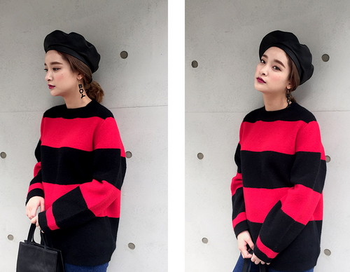 Widely Striped Pullover