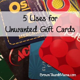 5 Uses for Unwanted Gift Cards