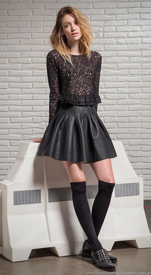 Moda inviern 2015 Mjer Argentina. Square faldas y blusas de moda otoño invierno 2015.