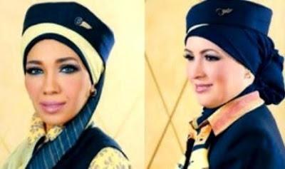 Pramugari Egypt Air Mula Pakai Hijab