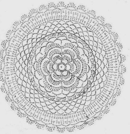 Схема вязания сетка для волос