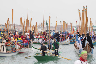 Carnival of Venice 2012, Italy-The Water Parade of boats - Travel Europe Guide