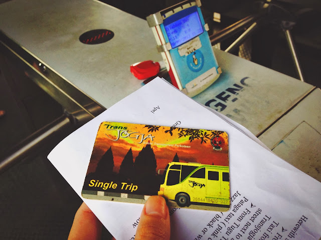 Transjogja busstop- single trip card