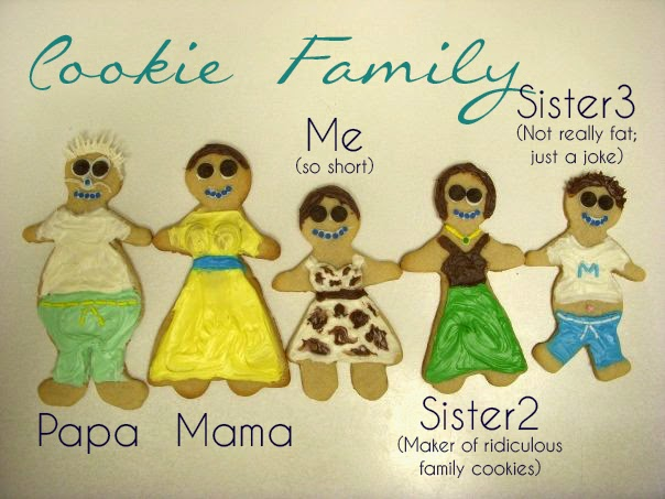 Cookie versions of Jenn's family | Business, Life & Design