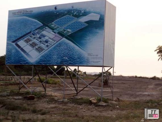 Dự án Trung tâm điện lực Kiên Lương tạm dừng suốt 3 năm qua. Nguồn: Tuổi Trẻ