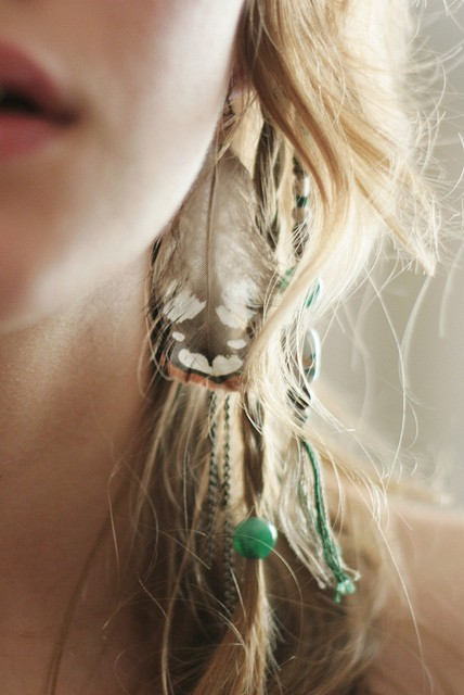 how to put feathers in your hair without beads