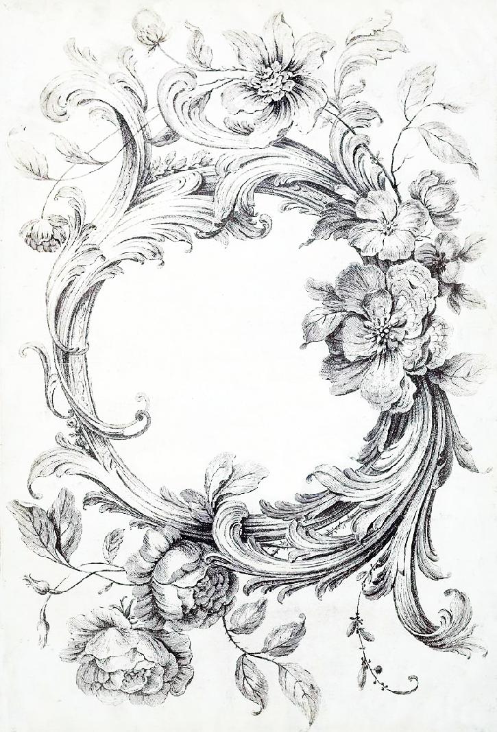 ArtzeeCCC: Vintage Black and White Floral Filigree Frame