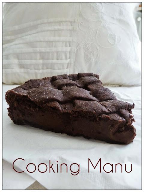 crostata al cioccolato di knam (chocolate tart with ganache)