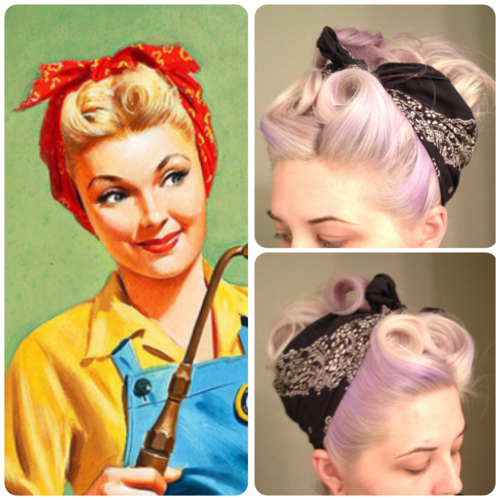 rockabilly hairstyle with bandana