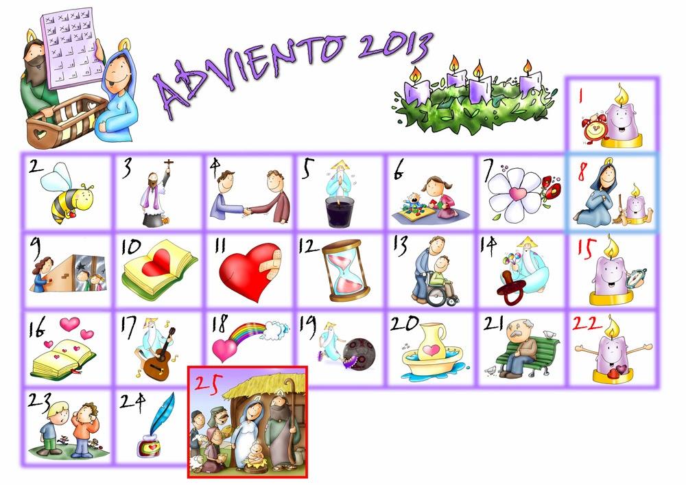 Recursos para mi clase calendario de adviento para ni os for Calendario adviento ninos