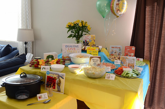 Bookworm Birthday Party Food Ideas