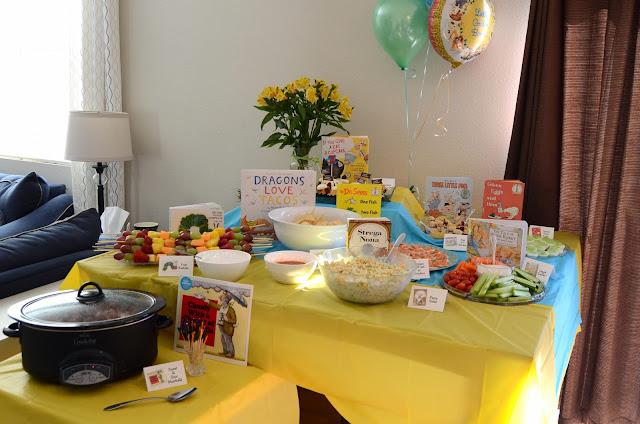 Bookworm Birthday Party Food Ideas