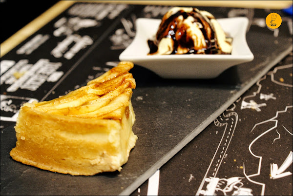 Tarta de manzana casera Tate´s Burger Hermosilla