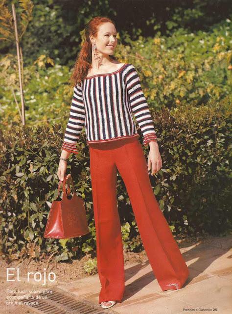 #6 Blusa Rayada a Crochet