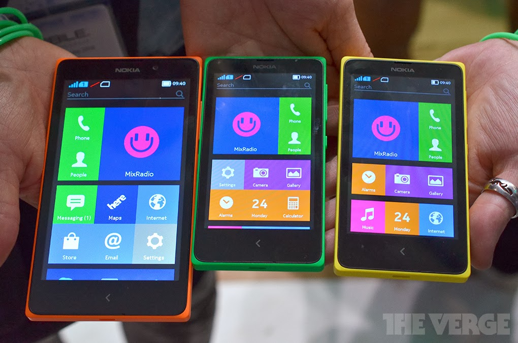 Nokia XL, Nokia X+ and Nokia X