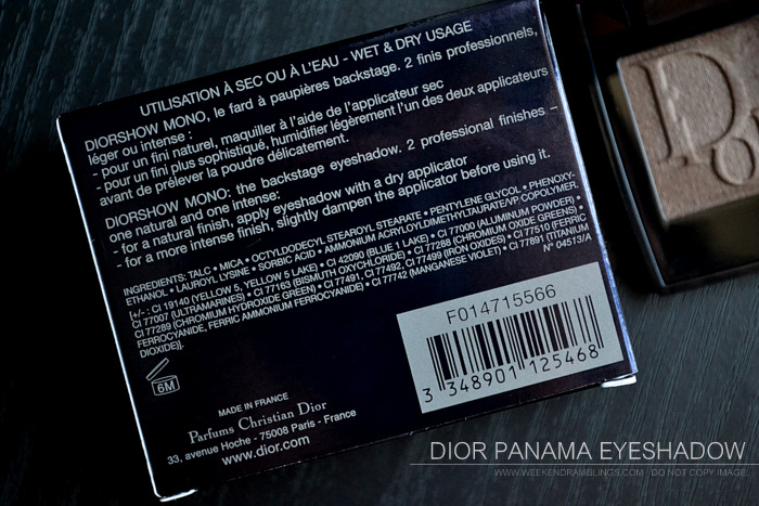 Dior Diorshow Mono Eyeshadow Panama 566 Photos Swatch FOTD Review Indian Makeup Beauty Blog