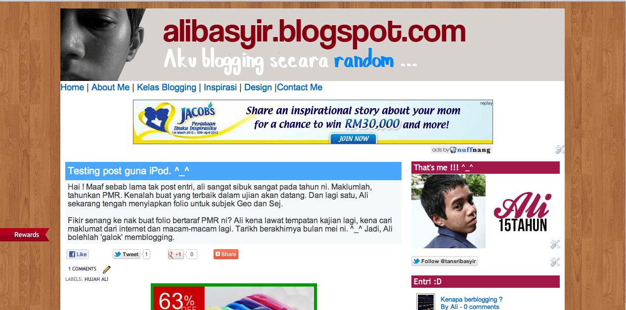Cara Nak Buat Background Yang Berlainan Untuk Blog Pages Ali Basyir