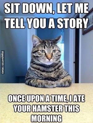 Cat story telling.