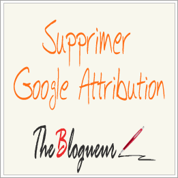 Supprimer Blogger Attribution