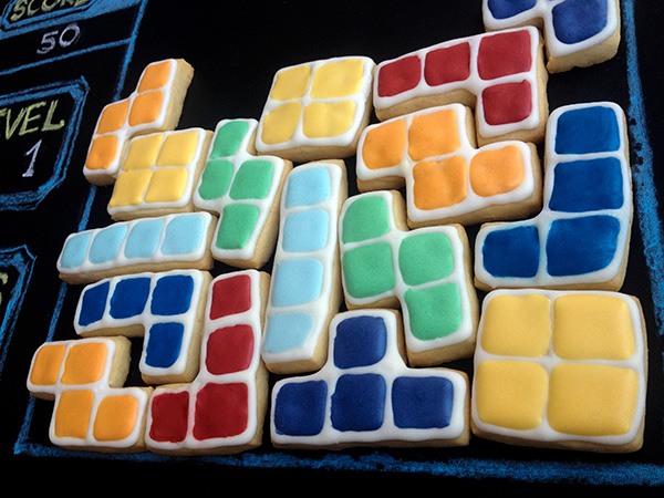 homenaje de galletas tetris decoradas