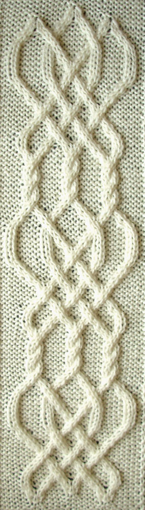 Ivanova and Carter Knit: Celtic Knot #7