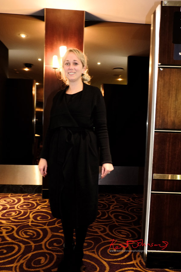 Black dress for a classic winter look - The Way, Way Back preview night.