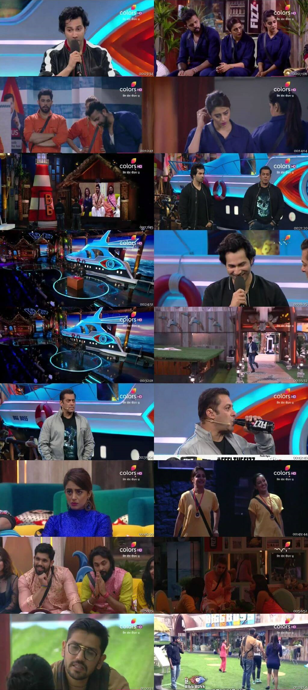 Screenshots Of Hindi Show Bigg Boss 12 23rd September 2018 Episode 07 300MB 480P HD