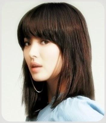 rambut sebahu ala korea