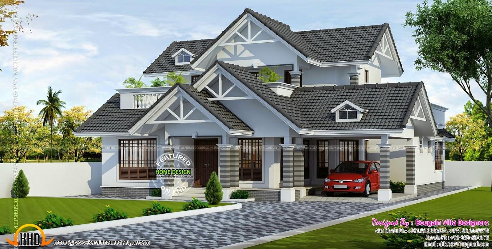 50 model atap rumah minimalis yang cantik nan menawan for Exterior house designs in india low budget
