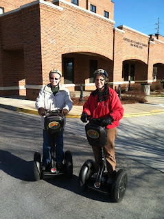 Dina and Carolyn on Segways in Asheville