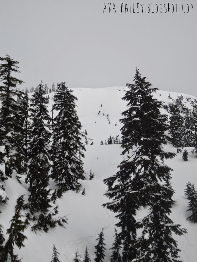 Climbers ascending Mt. Seymour in North Vancouver