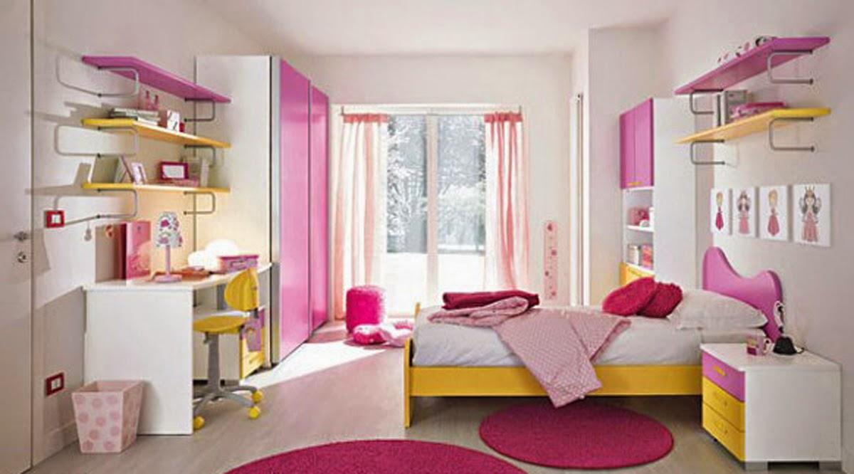 desain warna cat kamar anak perempuan remaja