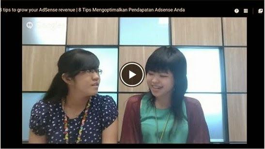 pakar Google Adsense Adsense Indonesia Mbak Felisia dan Mbak Jeany