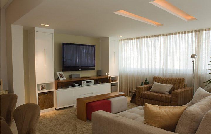 Sala De Tv Simples E Aconchegante ~  para deixar os cômodos bonitos, mais também para dar conforto e