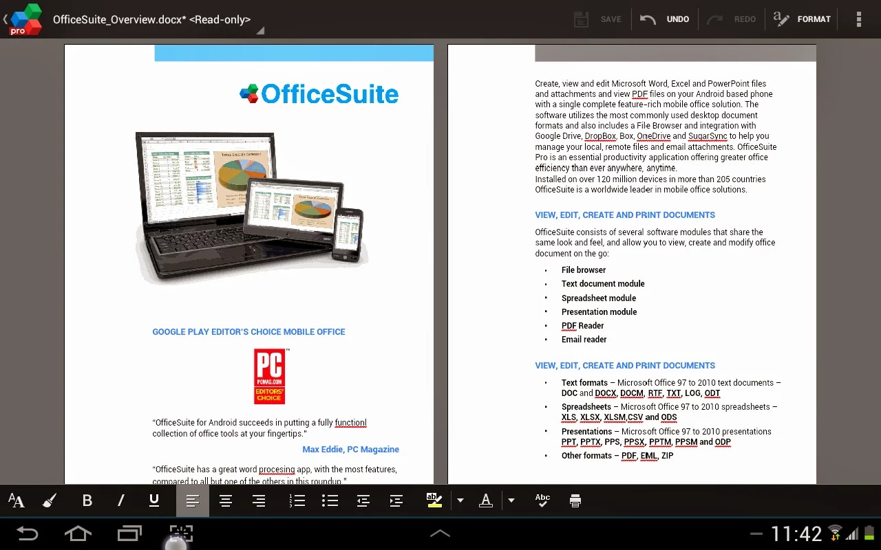 OfficeSuite 7 Pro (PDF&Fonts) v7.5.2005