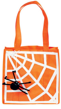 DIY Duck Tape Spider Web Trick or Treat Bag