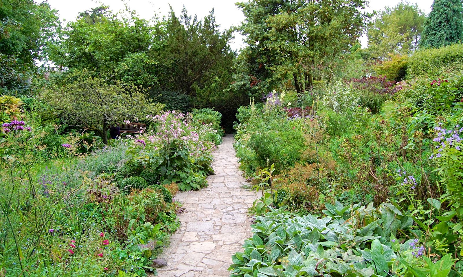 Path through the gardens to the Chalice Well