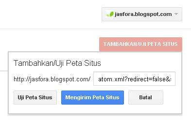 sitemap peta situs blogspot