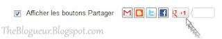 Barre De Partage Blogger