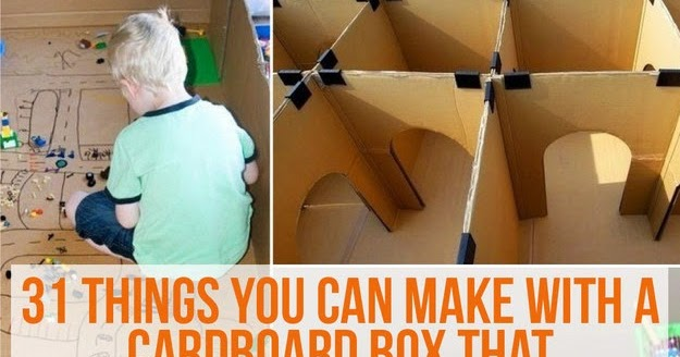 31 things you can make with a cardboard box that will blow for Things you can make out of a cardboard box