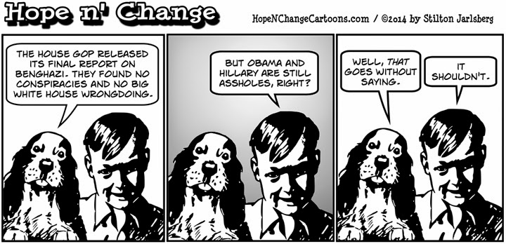 obama, obama jokes, hope n' change, hope and change, stilton jarlsberg, political, humor, cartoon, benghazi, report, house, stevens, youtube, hillary clinton