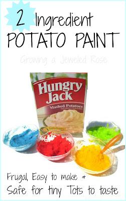 play recipe -potato paint