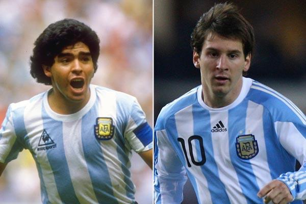 videos de maradona vs messi: