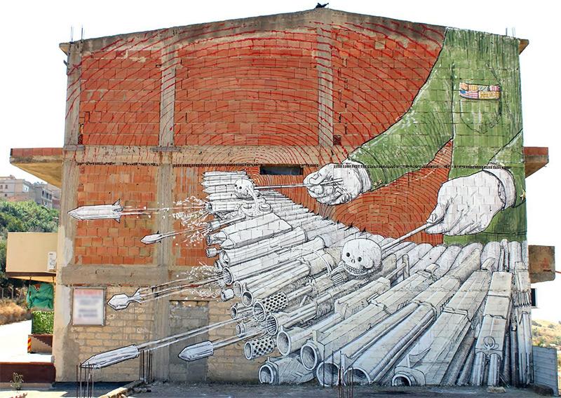 Nuevos murales de Blu en las calles de Italia
