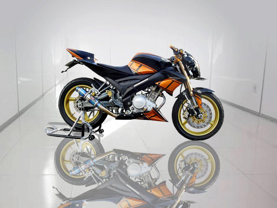 Modifikasi Vixion Ala Street fighter title=