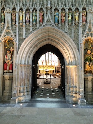 Chuck and Lori's Travel Blog - Ornate Quire Entrance, Ripon Cathedral