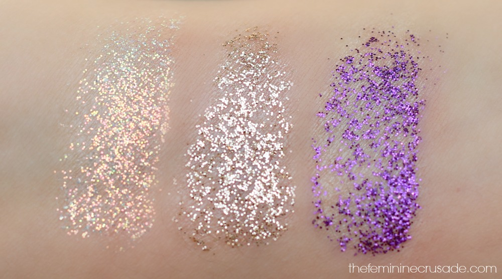 Wet n Wild Color Icon Glitter Singles (swatches)