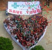 Walkathon and Heart-Shaped Human Chain mark World Heart Day