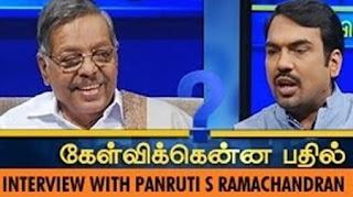Kelvikkenna Bathil 28-11-2015 Exclusive Interview with Panruti S. Ramachandran