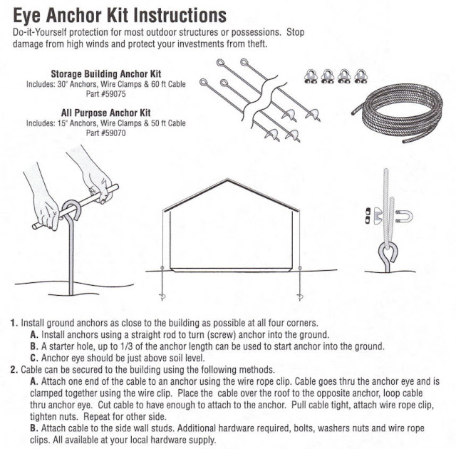 Shed Anchor Kit